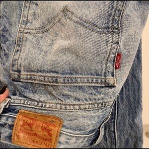 Levi's 501 acid wash straight leg jeans